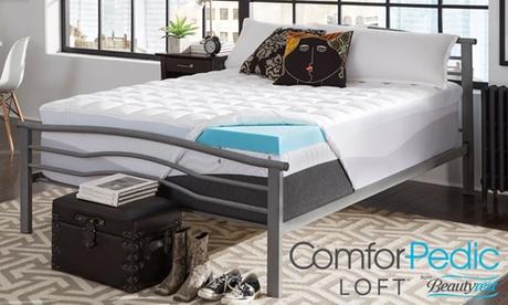 "ComforPedic Loft from BeautyRest 4.5"" NRGel and Fiber Mattress Topper 17c81516-6281-11e7-bf69-002590604002"
