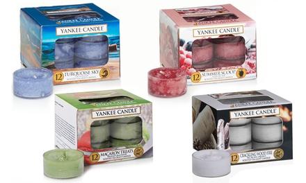 Set di 48 lumini profumati Yankee Candle disponibili in 3 mix di fragranze assortite