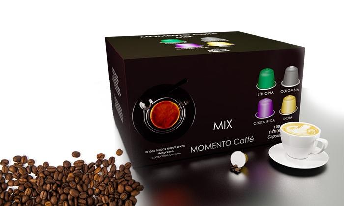 """נוטי אחזקות בע""""מ - Merchandising (IL): רק 89 אגורות לקפסולה! 100 קפסולות קפה תואמות נספרסו ב-4 טעמים לבחירה, כולל שבלונות לעיצוב הקפה מתנה!"""