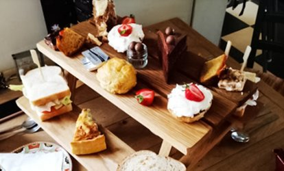 image for Afternoon Tea with an Optional Glass of Prosecco for Two or Four at Roobarb N Custard (47% Off)