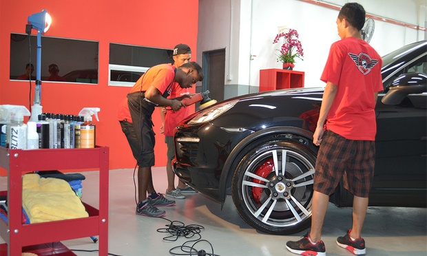 Rm49 For Auto Detailing With Sealant Coating Worth Rm150 Polishing Engine Bay Cleaning