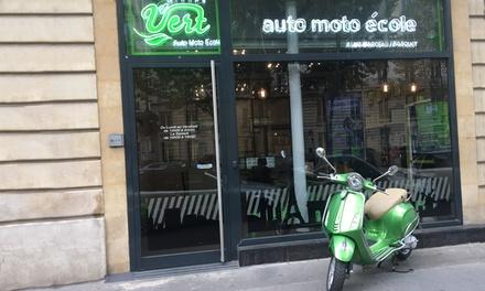 Permis AM (anciennement BSR) ou formation 125 dès 79€ chez Groupe Vert Auto Moto Ecole Saint Mandé/Nation