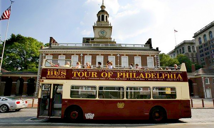 Philadelphia Trolley Works - Center City East: Hop-On, Hop-Off Bus or Trolley Tour from Philadelphia Trolley Works (Up to 46% Off). Six Options Available.