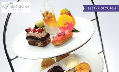 image for AA Rosette Traditional Afternoon Tea with Prosecco for Two or Four at Fredrick's Hotel and Spa (Up to 52% Off)