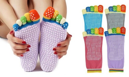 Anti Slip Yoga Socks: Four ($12) or Eight Pairs ($19)