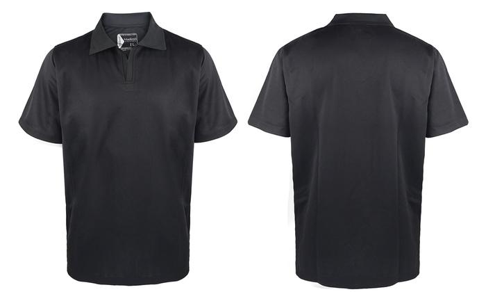 Men 39 s active polo shirt groupon goods for No button polo shirts