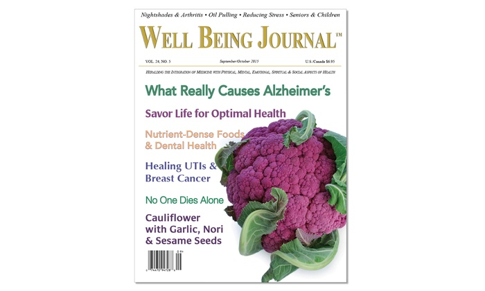 Well Being Journal:  $25 for a One-Year Subscription from Well Being Journal ($42 Value)