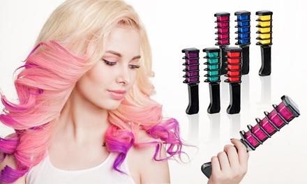 1, 2 o 4 packs de 6 cepillos de tinte para cabello con polvo de tiza temporal