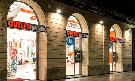 Buono sconto del valore di 10€ valido su tutti i prodotti di Outlet Dolciario (sconto 50%).Valido in 5 negozi o sul sito