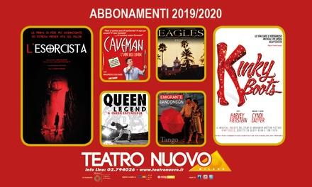 Sconto Biglietti Eventi Groupon.it Abbonamento 4 spettacoli per la stagione 2019-2020 al Teatro Nuovo di Milano (sconto fino a 55%)