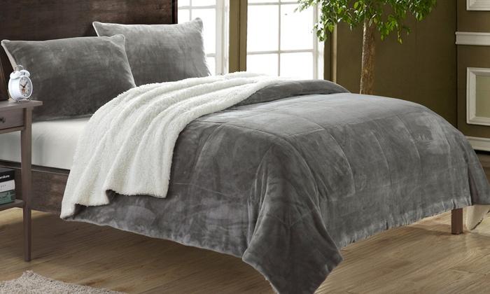 Naomi Microsuede Comforter 2 3pc Groupon Goods