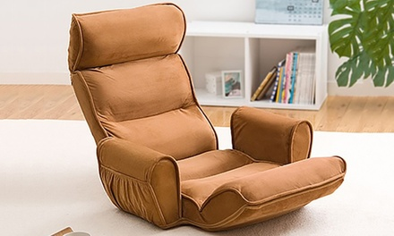 Sofa ajustable avec accoudoirs, coloris au choix, à 79,90€
