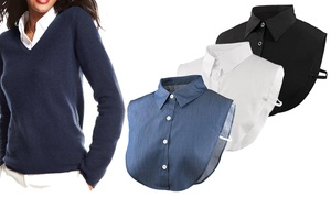 (Mode)  Faux col chemise -74% réduction