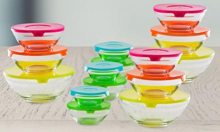 15 Glasschüssel mit Deckeln