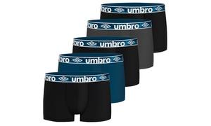 Lot de 5 boxers Umbro 100% coton pour homme