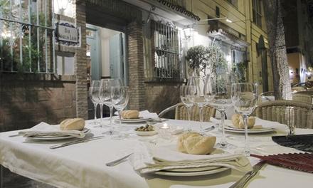 Menú tradicional para 2 o 4 con copa de bienvenida, entrante, principal, bebida y postre desde 29,95 € con Rogelio León