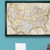 USA and World Magnetic-Pin Travel Map with 30 Pins (2-Pack)