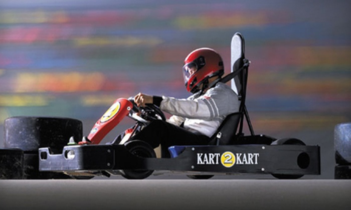 Kart 2 Kart - Sterling Heights: $19 for Go-Kart Outing with Two Races and Two Fountain Drinks at Kart 2 Kart in Sterling Heights (Up to $37 Value)
