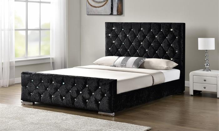Hasta 46% Marco de cama tapizado | Groupon