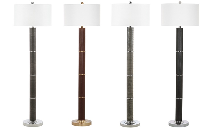 Safavieh 62 modern floor lamps groupon goods safavieh marcello 62 faux woven leather floor lamps safavieh marcello 62 faux woven mozeypictures Gallery