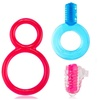 Screaming O C-Rings and Mini, Bullet, and Tongue Vibrator Couples Kit