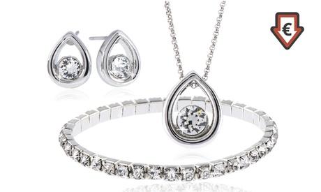 Conjunto de joyas chapado en plata con cristales Swarovski® por 14,99 €