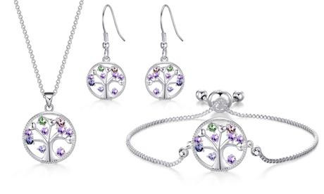 Set de joyería de collar y/o pendientes y/o pulsera Philip Jones hechos con cristales Swarovski®