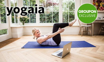 Three Month Access to Interactive Online Yoga Studio at Yogaia (Up to $61.36 Value)