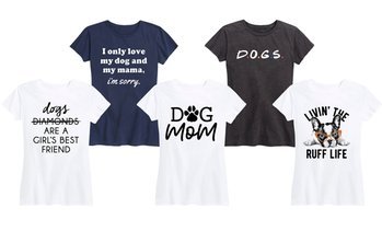 Women's Dog Mom Tees. Plus Sizes Available.