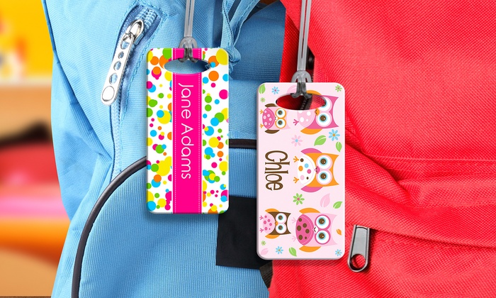 personalised kids u0026 39  bag tag