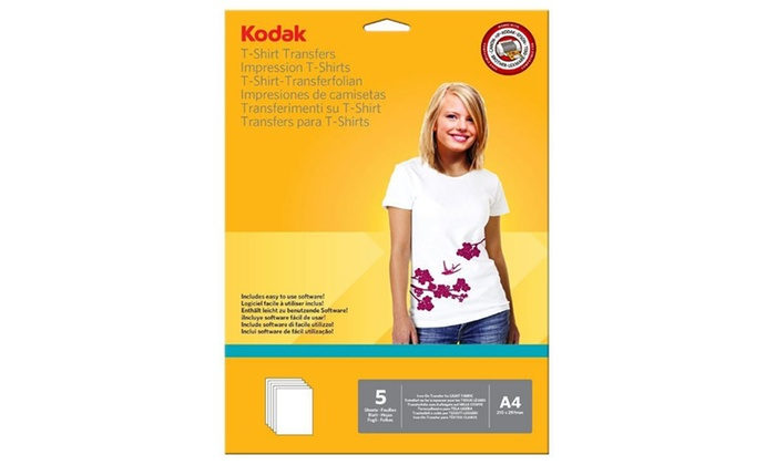 Groupon Goods Global GmbH: One, Two or Four Sets of Kodak T-Shirt Printing Transfers