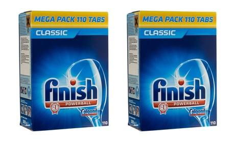 110 o 220 cápsulas de detergente Finish Powerball