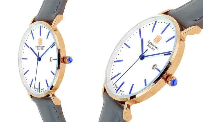 burgdorf women Steinhausen women's burgdorf swiss quartz watch with leather band.