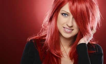 image for Cut and Shampoo with Options for Single Color or Partial Highlights at La Bellezza Hair Salon & Spa (57% Off)