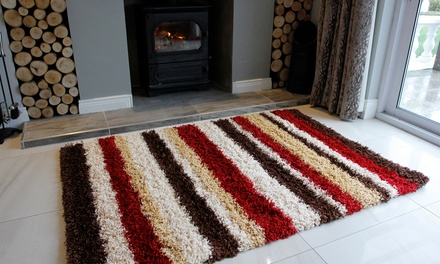 Helsinki Patterned Shaggy Rugs in Choice of Designs and Sizes from £21.98 With Free Delivery