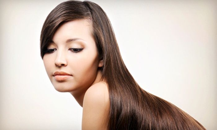 Beauty Deluxe Salon - Hillsdale: Brazilian Blowout or Haircut-and-Style Package at Beauty Deluxe Salon (Up to 56% Off)