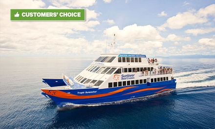 Cairns, QLD: Great Barrier Reef Full Day Experience for Up to Four with Snorkeling and Lunch with Sunlover Reef Cruises