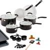 Guy Fieri Ceramic Nonstick Aluminum Cookware Set 25 Piece