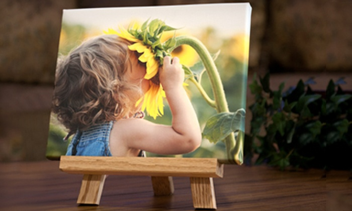 "Shutterbug Printing Specialties: $59 for an 8""x10"" Custom Canvas Easel Picture with Shipping from Shutterbug Printing Specialties ($177 Value)"