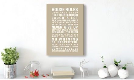 House Rules Canvas - 14 Colours