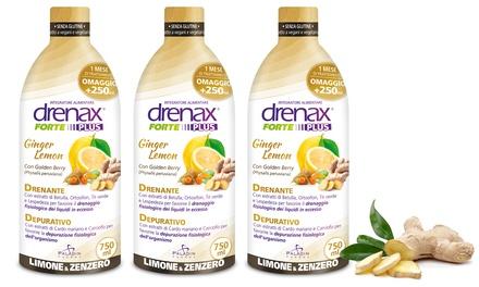 3 o 6 flaconi di Drenanti Drenax limone zenzero