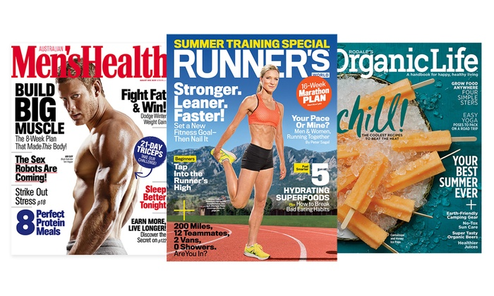 Health- and Lifestyle-Magazine Subscriptions (Up to 51% Off). Seven Options Available.