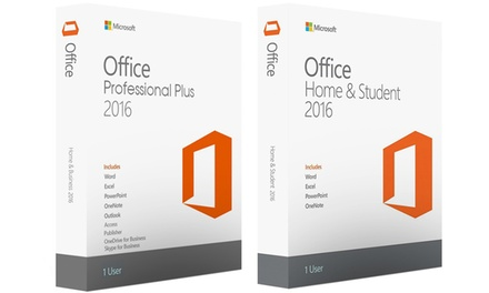 Logiciels Microsoft Office 2016 Home & Student ou Professional Plus