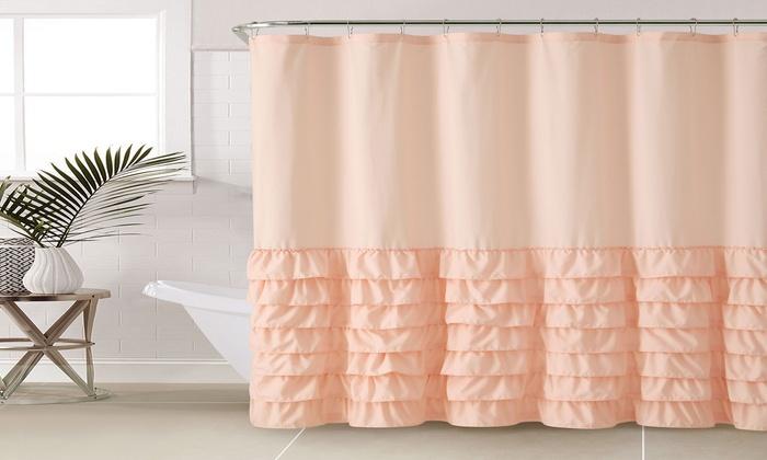Melanie Ruffle Microfiber Shower Curtain Groupon