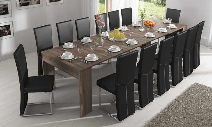 table console extensible groupon. Black Bedroom Furniture Sets. Home Design Ideas