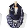 Women's Tricolor Knit Infinity Scarf