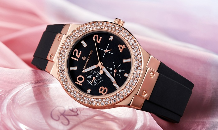 One or Two Timothy Stone Facon Watches with Crystals from Swarovski® from £17.99 With Free Delivery