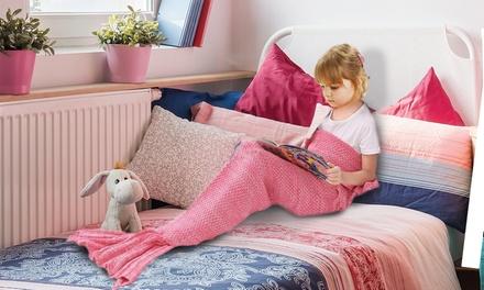 1 o 2 mantas con forma de cola de sirena para niñas