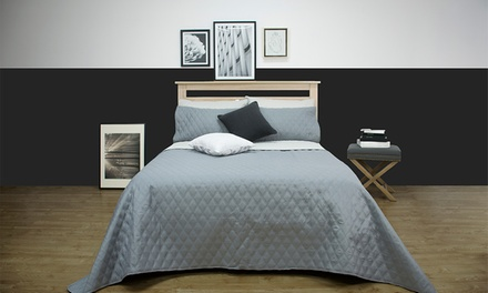 $59 for a an Ardor Boudoir Windsor Embossed Reversible Coverlet Set Don't Pay $119.95