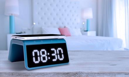 Reloj despertador con base de carga inalámbrica